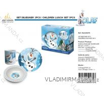 JEDÁLENSKÝ SET OLAF FROZEN DETSKÝ CHLAPČENSKÝ (3 DIELY) SUN CITY OLA101574