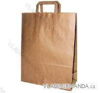 Papierová taška hnedá KRAFT 32+16X44 50ks / balenie