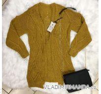 CARDIGAN pletenie dlhý rukáv dámske (UNI SL) TALIANSKÁ MÓDA im9181011
