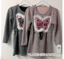 Šaty mikinové s flitrami a kapucňou detské dorast dievčenské (4-14let) Talianska MODA TM218165