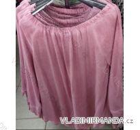 Tričko tunika dlhý krátky rukáv dámska (uni xl-3XL) TALIANSKÁ MÓDA IM71771165