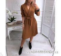 Šaty elegantné dlhý rukáv dámska (uni sm) TALIANSKÁ MÓDA IMT19014