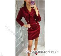 Šaty brúsená koženka dámske (sl) TALIANSKÁ MÓDA IM9188855