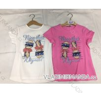 Tričko krátký rukáv detské a dorost dívčí (8-16 LET) FaD MA3197326