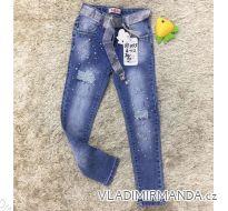 Rifle jeans slabé jarné detské dorost dievčenské  (4-12 LET) SAD MA319DT055