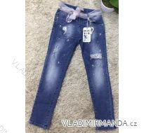 Rifle jeans slabé jarné detské dorost dievčenské  (8-18 LET) SAD MA319DT051