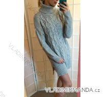 Sveter-šaty pletené dámske UNI talianska moda IM919009