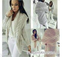 Cardigan pletený sveter teplý dámsky (uni sl) Talianska MODA IMC18204