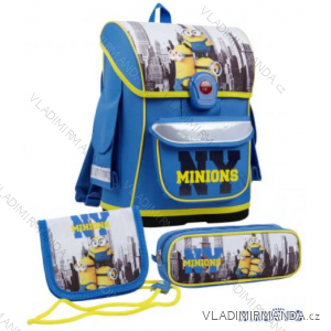 Školský set batoh + peračník + peňaženka na krk Mimoni detský chlapčenský tv mania 140331