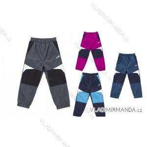 Nohavice šuštiakové s flaušový podšívkou dojčenskej dievčenské a chlapčenské (80-92) WOLF B2673