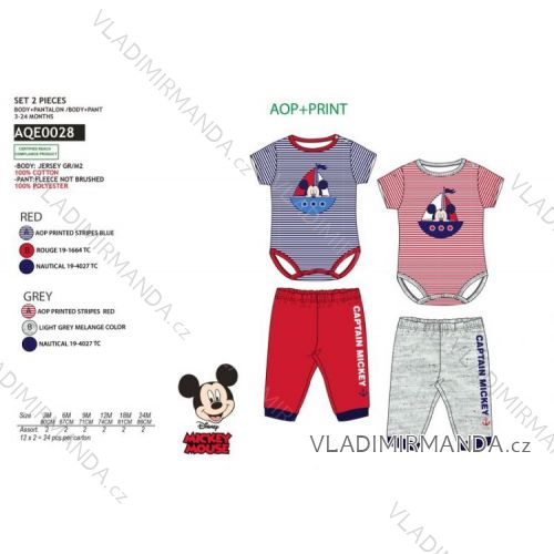 c89a07d8df95 Mickey mouse body suits baby boys cotton (3-24 months) SUN CITY AQE0028