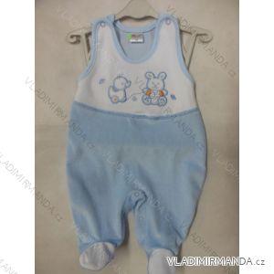 Dupačky bavlnené teplé zamatové dojčenské chlapčenské (56-86) KAY AB-4