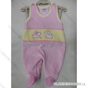 Dupačky bavlnené teplé zamatové dojčenské dievčenské (56-86) KAY AB-3
