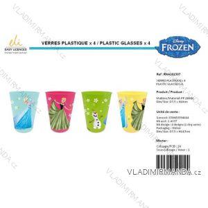 Hrnček kelímok plastový frozen detský dievčenský (4 ks) SUN CITY RNA101507