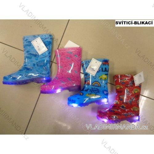 69eddd62271f Čižmy gumovky svietiace detské dievčenské a chlapčenské (23-28) OBUV LYJ-1
