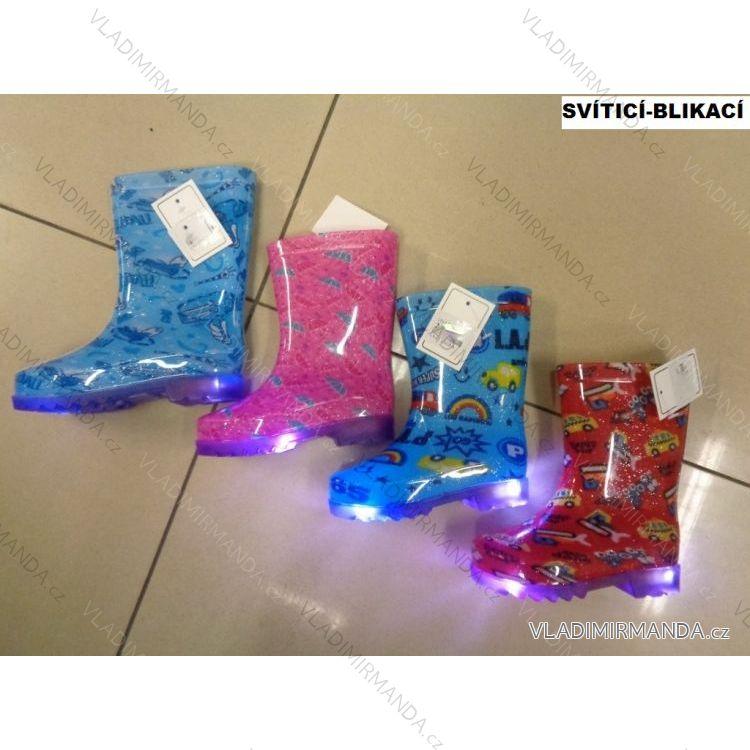 a2ae417dc331 Čižmy gumovky svietiace detské dievčenské a chlapčenské (23-28) OBUV LYJ-1