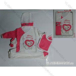 Komplet (5 ks) dojčenský dievčenský a chlapčenský (0-6 mesiacov) výroba v Turecku 680