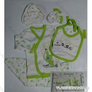 Komplet (5 ks) dojčenský dievčenský a chlapčenský (0-6 mesiacov) výroba v Turecku 0536