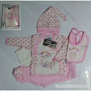 Komplet (5 ks) dojčenský dievčenský a chlapčenský (0-6 mesiacov) výroba v Turecku 5101