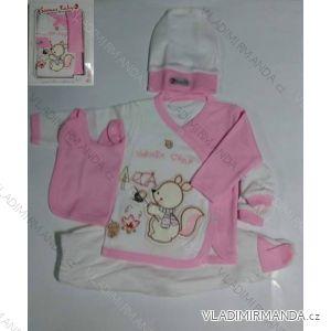 Komplet (5 ks) dojčenský dievčenský a chlapčenský (0-6 mesiacov) výroba v Turecku 710 K