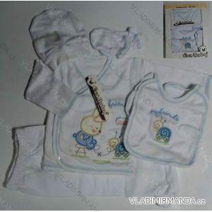 Komplet (5 ks) dojčenský dievčenský a chlapčenský (0-6 mesiacov) výroba v Turecku 502 K