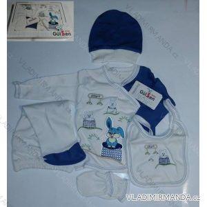 Komplet (5 ks) dojčenský dievčenský a chlapčenský (0-6 mesiacov) výroba v Turecku 204