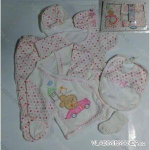 Komplet (7 ks) dojčenský dievčenský a chlapčenský (0-6 mesiacov) výroba v Turecku 3130 K