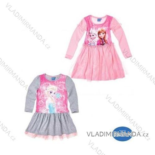 Šaty dlhý rukáv frozen detské dorasteneckej dievčenské (98-140) TV MANIA  161325 303bec0e681