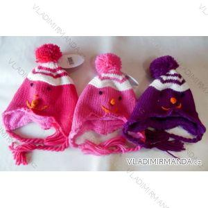 Čiapky zimné pletená dojčenská a detská dievčenské flaušová podšívka (0-1, 2-3, 3-4 roky) WOLF A2401