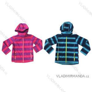 Bunda softshell dojčenská a detská dievčenská a chlapčenská flaušová podšívka (86-128) KUGO Y2220 / A
