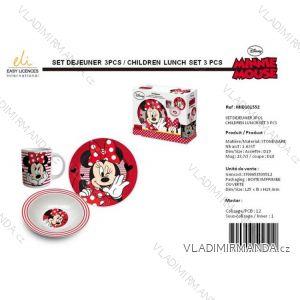 Jedálenský set minnie mouse detský dievčenské (3 diely) SUN CITY MID101552