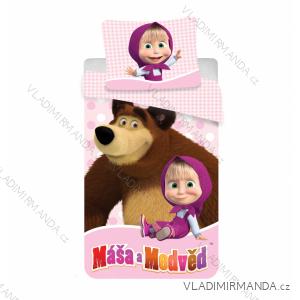 Obliečky masha and bear mäsa a medveď detské Divic (140 * 200) JF MASAMEDVED02