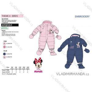Kombinéza zimná minnie mouse dojčenská dievčenské (6-24měsíců) SUN CITY AHQ0263