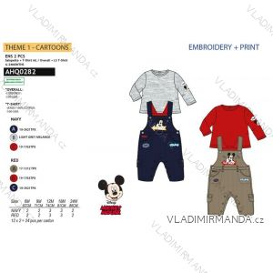 Body dlhý rukáv, tepláky s trakmi mickey mouse chlapčenské (6-24 mesiacov) SUN CITY AHQ0282