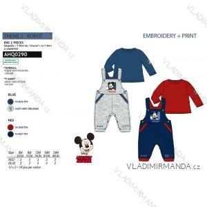 Tričko dlhý rukáv, tepláky s trakmi mickey mouse chlapčenské (6-24 mesiacov) SUN CITY AHQ0290