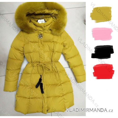 Bunda kabát s kožušinkou dámsky (s-xl) Poľsko MODA PM217042 ... 260cf85adb