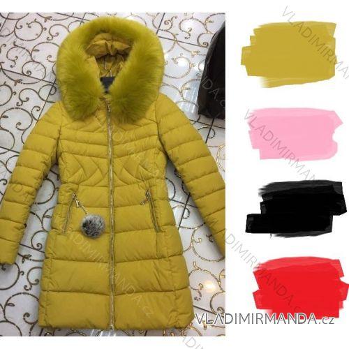 Bunda kabát s kožušinkou dámsky (s-xl) Poľsko MODA PM217043 ... c46cc76d57