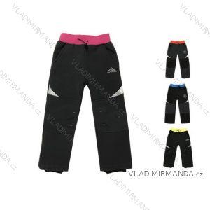 Nohavice softshell zateplené flaušom dojčenské detské chlapčenské dievčenské (74-98) KUGO S7001