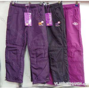 Nohavice šuštiakové zateplené flaušom dojčenské detské dievčenské chlapčenské (86-116) GRACE M-603