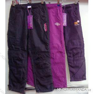Nohavice šuštiakové zateplené flaušom dojčenské detské dievčenské92-116) GRACE M-632
