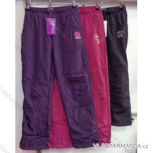 Nohavice šuštiakové zateplené flaušom dojčenské detské dievčenské (98-158) GRACE M-634