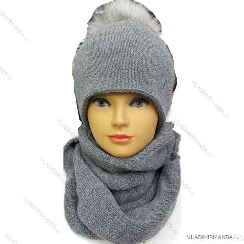 99a9f55c0 Set čiapka nákrčník zimné dievčenské dámsky (uni) poľských výrobcov na  POL117115