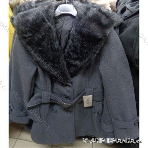 Kabát 3 4 teplý flauš s kožušinovým golierom dámsky (s-xl) TALIANSKÁ ... 73ac868ca44