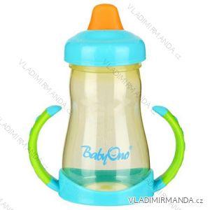 Netečúci hrnček BabyOno s mäkký náústníkem - 220ml., BPA free, 6m +. 208