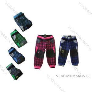 Nohavice bavlnené outdoor teplé dojčenské dievčenské a chlapčenské flaušová podšívka (68-92) KUGO T8019
