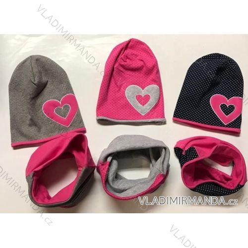 238de4d67 Set čiapky a nákrčník zimné dojčenská a detská dievčenské (uni 52-54) POĽSKO