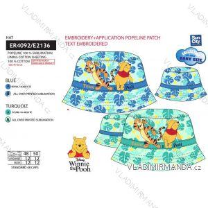 Klobúčik medvedík pú dojčenský chlapčenský bavlnený (48-50 cm) SUN CITY ER4092