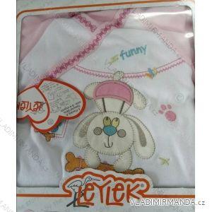 Komplet (kabátik, dupačky, čiapky, rukavice) dojčenský dievčenský a chlapčenský (0-4 mesiace) TIASIS TV02