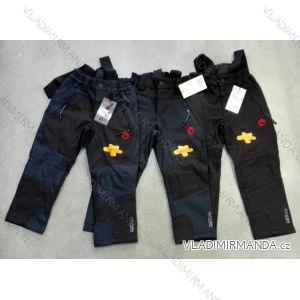 Nohavice softshell s trakmi flaušová podšívka detské dievčenské chlapčenské (104-134) NEVEREST FT-7233CC