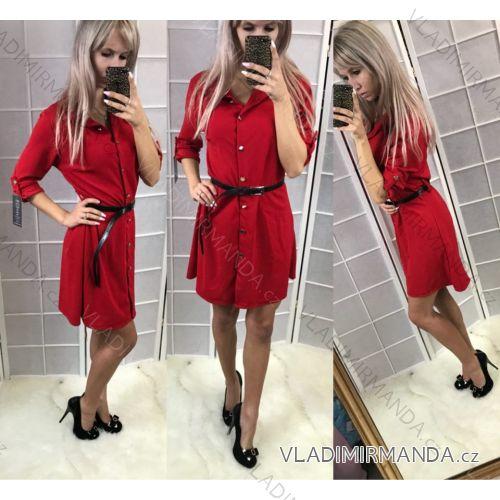 b18b4e8fc665 Šaty 3 4 dlhý rukáv košeľové dámske (uni sl) TALIANSKÁ MÓDA IM918044 ...